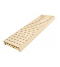 Banc de sauna, tremble / aulne, 600x1600-2400 mm