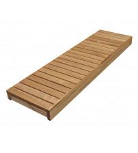 Saunová lavica, termo osika, 600x1600-2400 mm