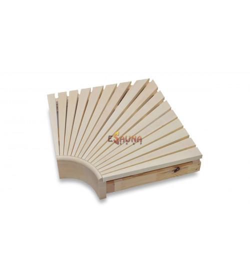 Corner module for modular sauna benches
