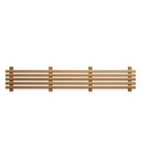Spodný prvok saunovej lavice, termoosika