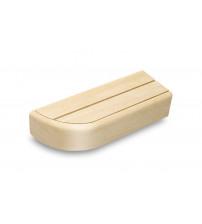 Elemento de banco de extremo para bancos de sauna modulares, Álamo temblón