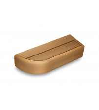 End bench element for modular sauna benches, Thermo aspen