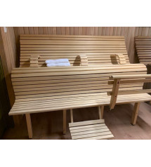 Modular sauna bench LuxLava CLASSIC
