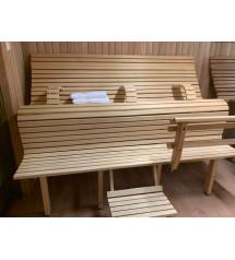 Banco de sauna modular LuxLava CLASSIC