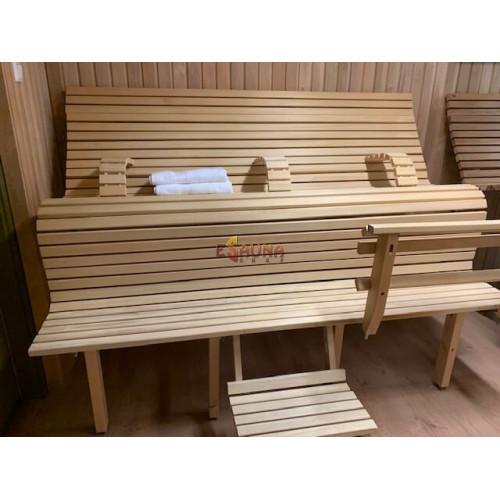 Modulær sauna bænk LuxLava CLASSIC