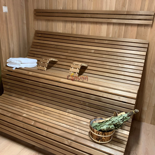 Modulær sauna bænk LuxLava HARMONY