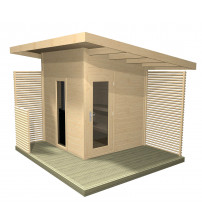 Harvia Solide Compact outdoor sauna