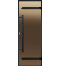 Portes de sauna en verre Harvia Legend, cadre en aluminium 9x21