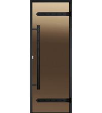 Bastudörrar i glas Harvia Legend, aluminiumram 9x21