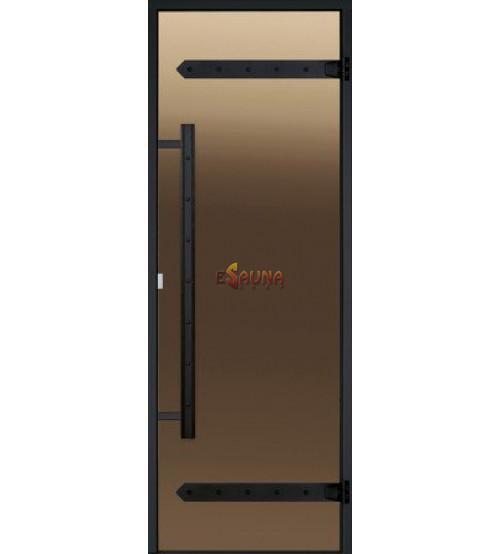 Szklane drzwi do sauny Harvia Legend, rama aluminiowa 8x21