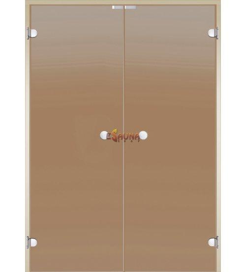 Dvivėrės stiklinės pirties durys Harvia