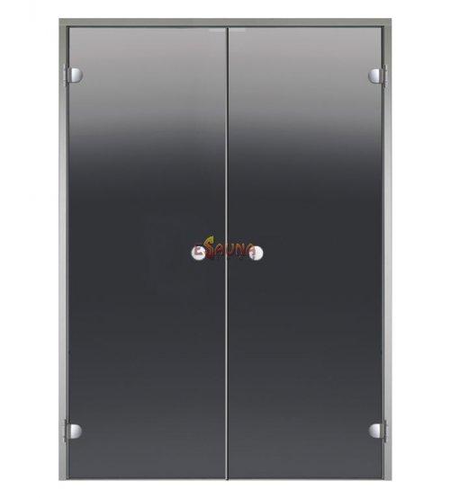 Portes de sauna en verre double Harvia pour hammams