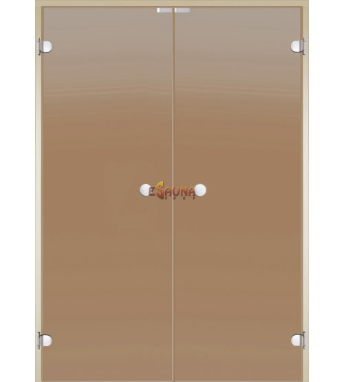 Dvojna steklena vrata za savno Harvia