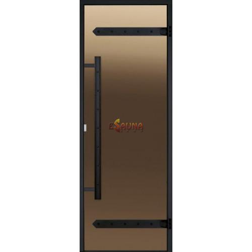 Portes de sauna en verre Harvia Legend, cadre en aluminium