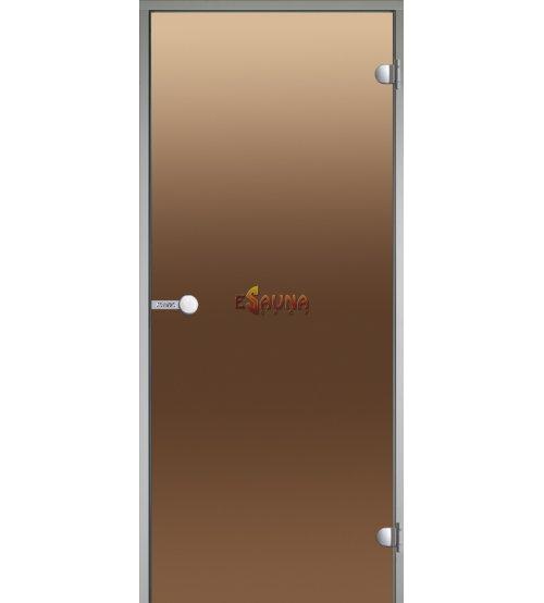 Sklenené dvere Harvia na paru, sauny 7x19, rám z bieleho hliníka