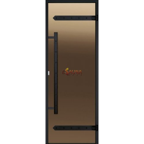 Stiklinės pirties durys Harvia Legend, aliuminio rėmas
