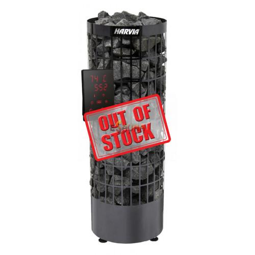 Electric sauna heater - Cilindro Black Steel PC 90XE