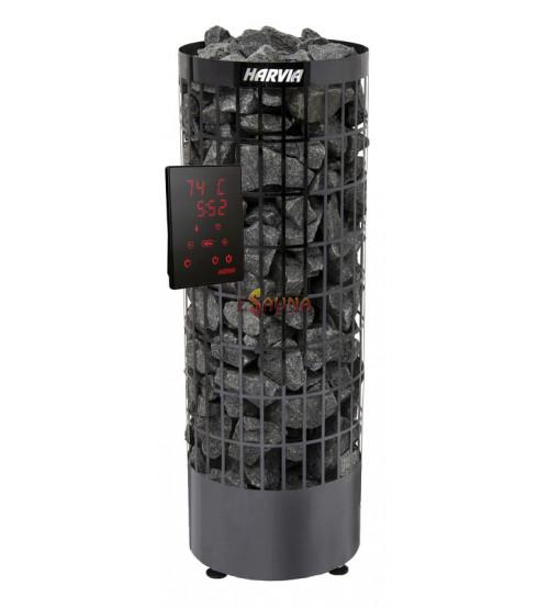 Elektrické saunové kúrenie - Cilindro Black Steel PC 90XE