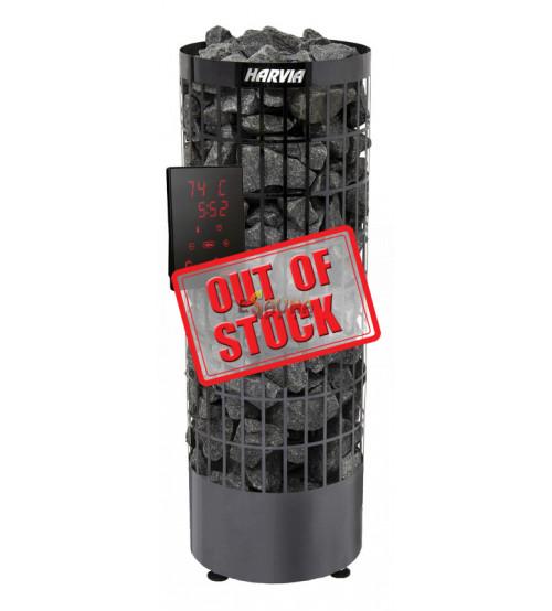 Stufa elettrica per sauna - Cilindro Black Steel PC 70XE
