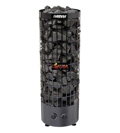 Stufa elettrica per sauna - Cilindro Black Steel PC 70
