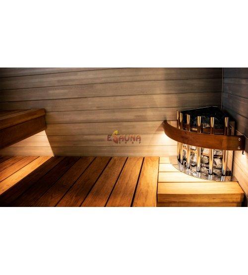Beleuchtetes Schutzgeländer für den Glow Corner -Saunaofen  HTRC3L