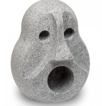 Steinschüssel, um Gerüc..