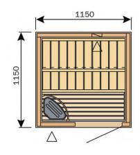 Cabine de sauna Harvia Variante S1212