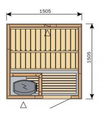 Cabine de sauna Harvia Variante S1515