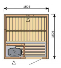 Кабина за сауна Harvia Вариант S1515