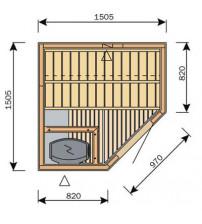 Cabine de sauna Harvia Variante S1515R / S1515L