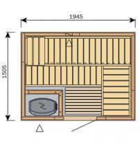 Cabina sauna Harvia Variante S2015