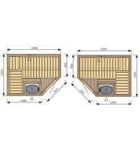 Cabina sauna Harvia Variante S2015R / S2015L