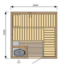 Cabine de sauna Harvia Variante S2020