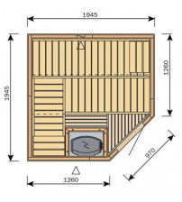 Cabina sauna Harvia Variante S2020R / S2020L