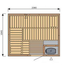 Cabine de sauna Harvia Variante S2520