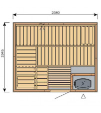 Кабина за сауна Harvia Вариант S2520