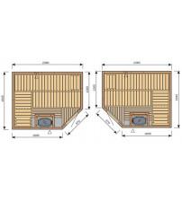 Cabină de saună Harvia Variant S2520R / S2520L