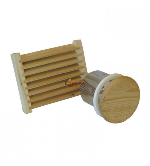 Rejilla de ventilación con persiana