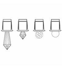 Kristal za vlakna Harvia Svetleča vlakna, polieder