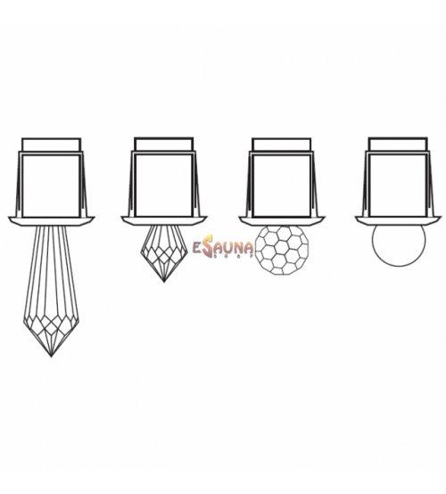 Glasfaser für Harvia-Lichtfasern, Polyeder
