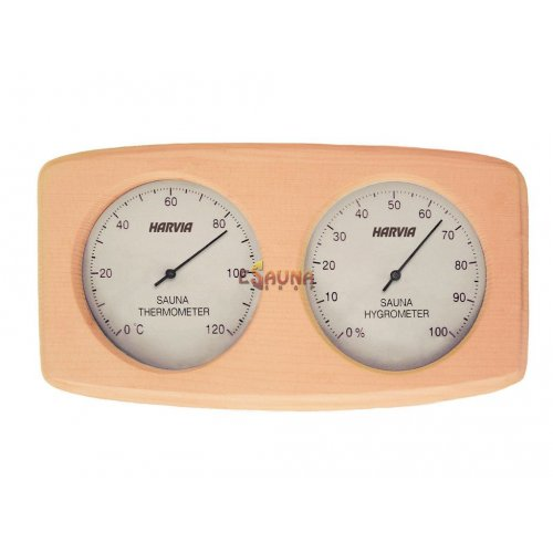 Curved box type Harvia thermo-hygrometer