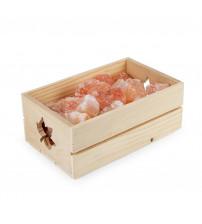 Himalaya salt i en låda på 3,5 kg