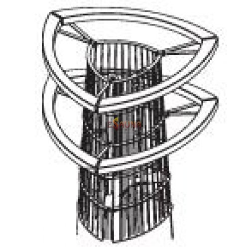 Harvia safety railing HPI4, double-decked in Electric heaters on Esaunashop.com online sauna store