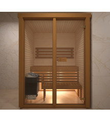 Saunová kabina se sklem, 150x120cm