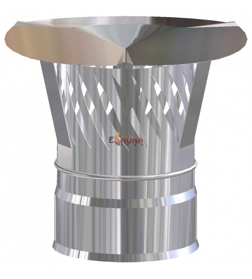Wykończenie + czapka przeciwdeszczowa z tłumikiem iskier d115 / 200, 0,5 mm