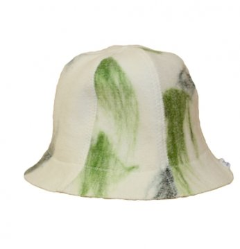 Chapeau tacheté vert..
