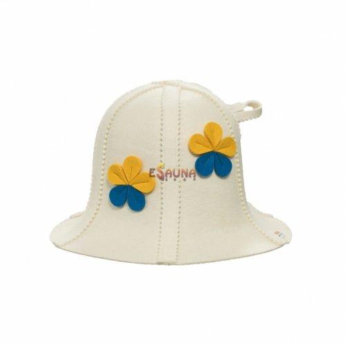 Фетровая шапка, цветы