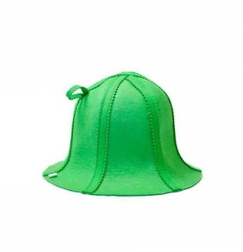 Фетровая шапка, зеленая..