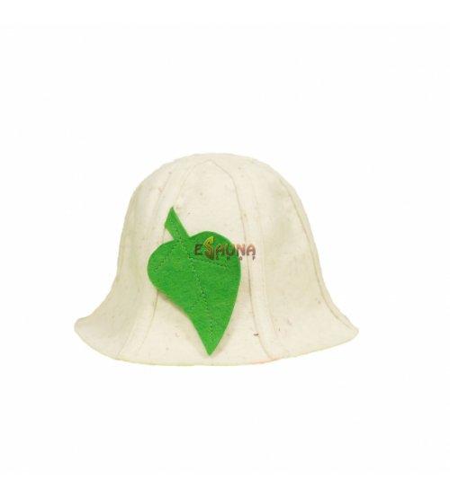 Kepurė, su lapeliu, balta