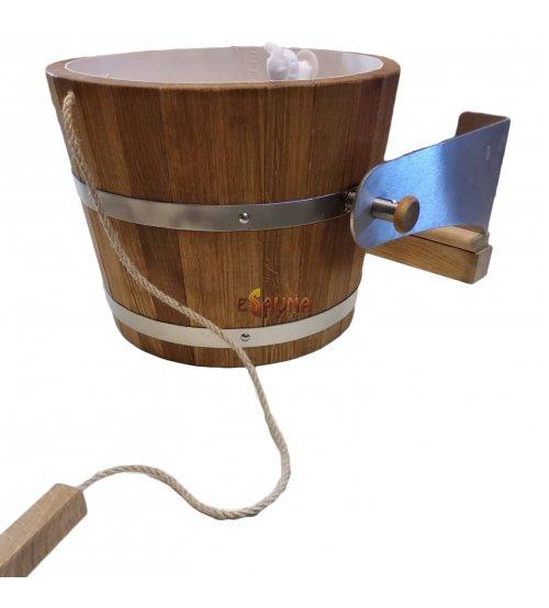 Ąžuolinis apsipylimo kubilas su metalinėm rankenom